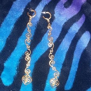 Golden Dangle Earings